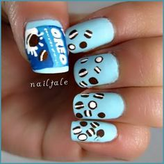 Instagram Photo By Nailtale Oreo Food Nail Art Cute Designs Beautiful