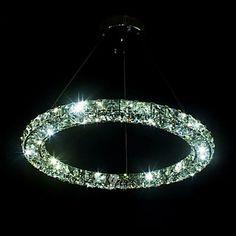 LED Crystal Pendant Light Lighting Modern Single D50CM Three Sides K9 Crystal Indoor Ceiling Lights Lamp Fixtures – USD $ 226.99