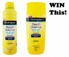 Win a Neutrogena Beach Defence Sunscreen Pack