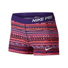 Nike Women's 3 Inch Pro Core Compression Shorts, Pink|Red ($25) ❤ liked on Polyvore featuring activewear, activewear shorts, nike, nike activewear, nike sportswear and pink sportswear