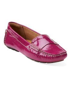Another great find on #zulily! Fuchsia Dunbar Grandby Leather Moccasin by Clarks #zulilyfinds