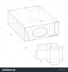Dispenser Box With Die Line Template Stock Vector Illustration 309625763 : Shutterstock
