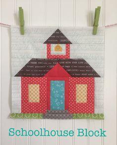 Schoolhouse Block Tutorial!! | Bee In My Bonnet | Bloglovin'