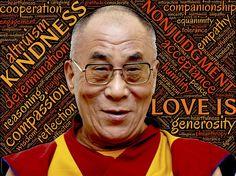 The Dalai Lama begins his day embracing gratitude and kindness. Osho, Mahatma Gandhi, William Shakespeare, Reiki, Worry Quotes, 14th Dalai Lama, Kundalini, Buddhist Wisdom, Buddhism