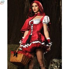 2014 Halloween Pageant Wear Women Sexy New Little Red Riding Hood Adult Halloween Fancy Dress Up Costume