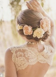 50 Romantic Wedding Hairstyles Using Flowers for your fairytale wedding- On Bridal Musings