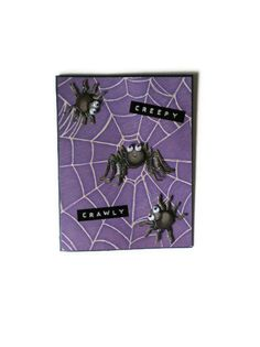 Creep Crawly Halloween Card/Kids Card by lilaccottagecards on Etsy, $3.50