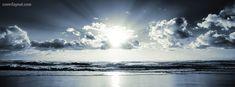 Sky Sun Over Beach Facebook Cover CoverLayout.com