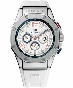 TOMMY HILFIGER Eton Chronograph White Rubber Strap Η τιμή μας: 165€ http://www.oroloi.gr/product_info.php?products_id=33780