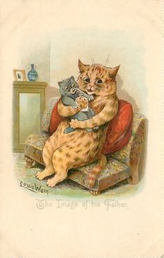 The image of his father | postcard by Louis Wain