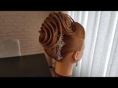 Beautiful French twist for long hair/ أجمل تسريحة فرنسية للشعر الطويل - YouTube