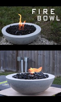 How to Make a Concrete Fire Bowl 2019 All the steps I took to create this awesome fire bowl! The post How to Make a Concrete Fire Bowl 2019 appeared first on Patio Diy. Concrete Patio Designs, Concrete Crafts, Concrete Projects, Concrete Planters, Diy Projects, Concrete Bowl, Concrete Fire Pits, Concrete Garden, Fire Pit Bowl