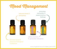 doTERRA Mood Management Essential Oils - A mama's best friend :)  Never be without these four amazing oils!