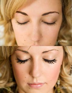 eyelash extensions -this is the one crazy expensive beauty thing I would love to waste my money on.