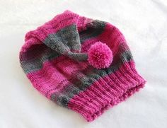 Baby Knitting Patterns Hat Free knitting instruction: Zipfelmütze and Dreiecktuch for children 2 - 4 years Learn How To Knit, How To Start Knitting, Knitting For Kids, Crochet For Kids, Free Knitting, Baby Knitting Patterns, Crochet Patterns, Tricot Simple, Knitted Hats Kids
