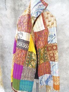 Beautiful Indian Handmade Designer Sari Silk Shawl / Scarf / Wraps Shawl 103