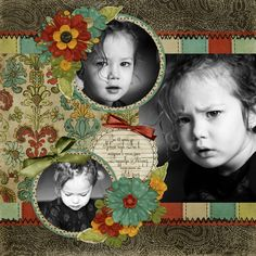 2 circle pix and 1 rectangular pic. Would be cute for Xmas