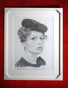 Emília Vášáryová, portrét v ráme. Dušan Dudo Hanes