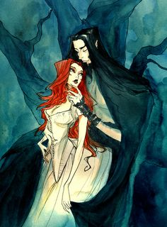 Hades and Persephone II Art Print by Abigail Larson