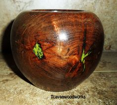 Mesquite Wood Vessel / Bowl (grinch green) #woodvessel #crackedwoodresin