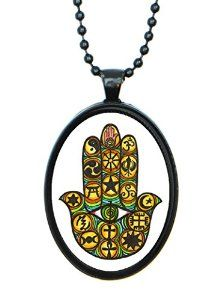 Interfaith Hamsa Pendant on Amazon