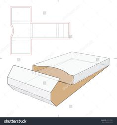 Business Cards Wrapping Box With Die Cut Template Stock Vector Illustration 252175951 : Shutterstock