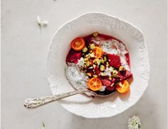 Chia Seed Yogurt With Roasted Rhubarb