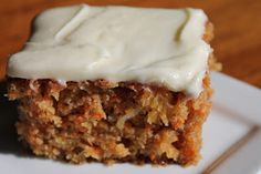 Carrot cake for Thanksgiving! UPDATE - I made this on the weekend and it's honestly the best carrot cake I've ever had.  Plus it's a huge recipe - makes a 9 x 13 cake!