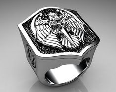 #Unique Mens Ring Eagle Shield... To see more cool stuff be sure to visit my blog! Also please Share Thanks!