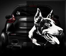 "Doberman Pinscher Dog Decal WHITE 5""x4.5"" Vinyl Car Window Sticker J30"