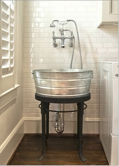 This would be the coolest laundry room sink. If I ever have a utility sink. Or a laundry room for that matter. Laundry Room Sink, Home Hacks, House Design, Remodel, New Homes, Laundry Sink, Home Decor, Wash Tubs, Sink