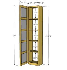 Ana White | Build a Craft Room Storage Tower | Free and Easy DIY Project and Furniture Plans