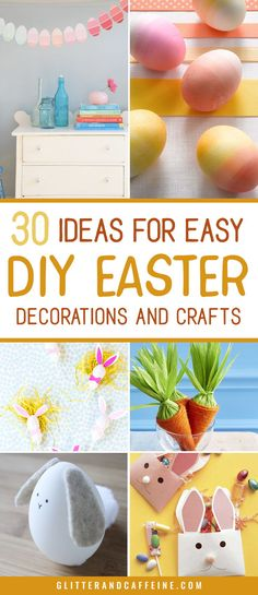 30 cool ideas for cute crafts you can easily make with the kids as part of your Easter festivities. You'll be sure to impress your guests on Sunday with these easy tutorials! Diy Arts And Crafts, Cute Crafts, Crafts To Do, Diy Crafts For Kids, Craft Ideas, Easter Festival, Easter Egg Crafts, Easter Eggs, Easter Printables
