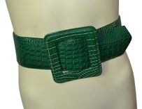 With out tags Amazing aligator print green leather belt size S/M