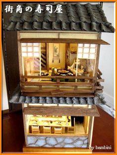 ハンドメイドマーケット minne(ミンネ)| 1/12 街角の寿司屋 和風ドールハウス