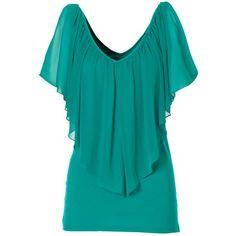 Türkises T-Shirt 24,99 € ♥ Hier kaufen: http://www.stylefruits.de/t-shirt-mit-fledermausaermeln-bonprix/p4542611
