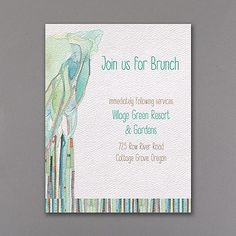 Tree of Life - Strength - Reception Card/Brunch Card www.dmeventsanddesign.com