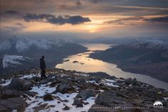 Highland sunset from the Pap of Glencoe