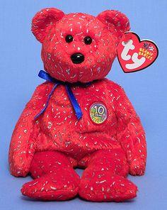 Decade (red) - Bear - Ty Beanie Babies
