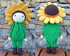 Sunflower Sam doll made by Ana J G - crochet pattern by Zabbez