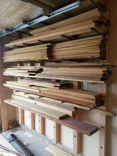 """Lumber Rack made from 3/4"""" pipe - by Adrian A @ LumberJocks.com ~ woodworking community"""