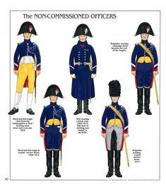 I sottufficiali e la truppa della Gendarmeria a cavallo della guardia imperiale
