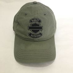 e1bc86f9 Harley Davidson Motorcycles Baseball Hat Cap Embroidered Olive Gray Denim  #fashion #clothing #shoes