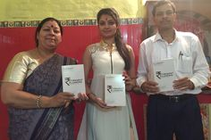 Mohapatra presented a copy of his new book to popular Bollywood actress Ashima Sharma at the famous Kalkaji Temple