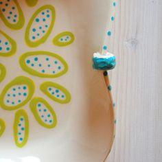 Ceramic tray ceramics handmade tray colorful blue by PotsbyNives