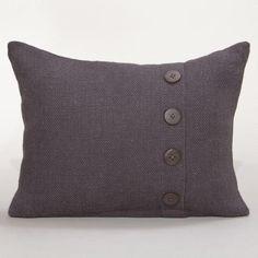 One of my favorite discoveries at WorldMarket.com: Tornado Gray Burlap Lumbar Pillow