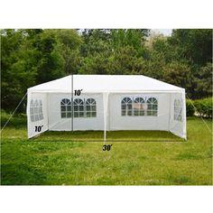 Amazon.com : Topteck 10x30 Feet Outdoor Wedding Events Party Heavy Duty Tent Heavy duty Gazebo Pavilion Removable Sidewalls, White : Patio, Lawn & Garden