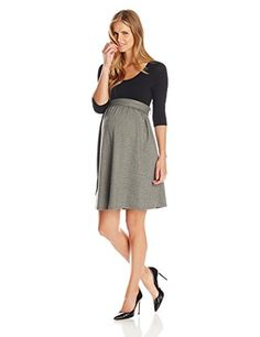 Maternal America Womens Maternity Front Tie Herringbone Dress BlackHerringbone Large >>> Want to know more, click on the image.Note:It is affiliate link to Amazon. #PregnancyTips