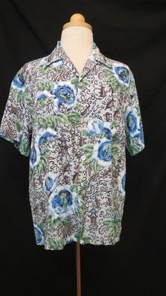 Men's true vintage shirts in great condition are an even more elusive find than women's are because, alas, you blokes have never been known for looking after your clothing very well.  So many wonde...