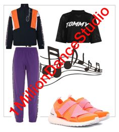 """""""dance Your Soul stylish"""" by ilseok on Polyvore featuring Champion, Tommy Hilfiger and adidas"""
